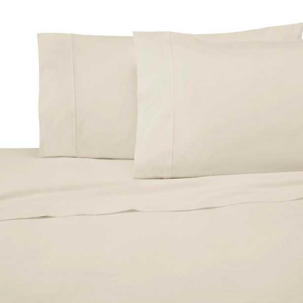 300 Thread Count 4-Piece Cream (Ivory) Cotton King Sheet Set - Home Depot