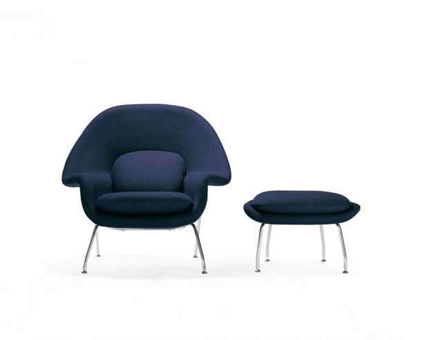 Womb Chair And Ottoman - Twilight - Rove Concepts