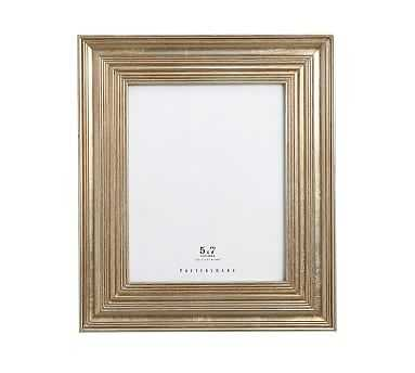 "Eliza Gilt Picture Frame, 5 x 7"" Wide Frame, Champagne Gilt finish - Pottery Barn"