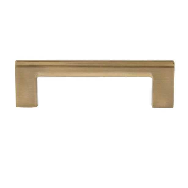 Sumner Street Home Hardware Vail 4 in. Satin Brass Drawer Pull (10-Pack) - Home Depot