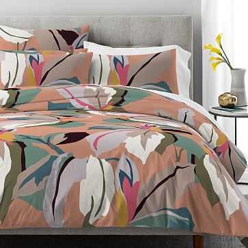 Organic Tropical Dream Duvet, Multi, Full/Queen - West Elm
