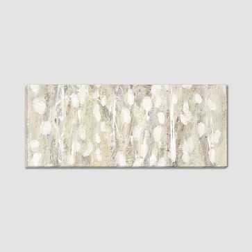 """Canvas Print, Shades of White, 54""""x22"""" - West Elm"""