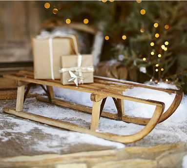 Found Wooden Sled - Pottery Barn