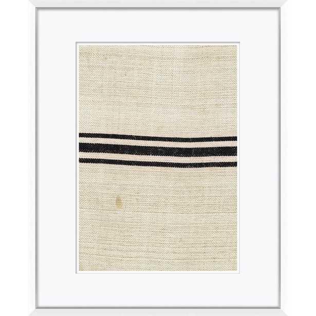 "Vintage French Sack Cloth in Black Art Print, 23"" x 29"" - Soicher Marin"