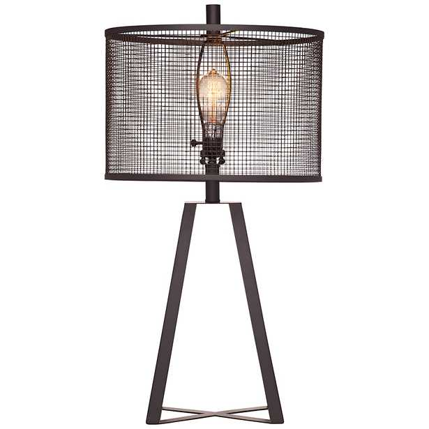Bridwell Black Iron Cut Out Metal Shade LED Table Lamp - Style # 68C98 - Lamps Plus