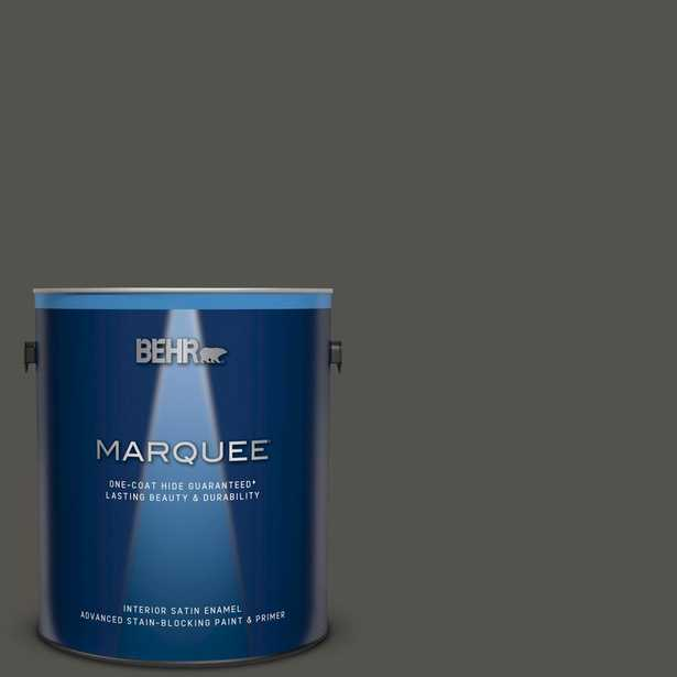 BEHR MARQUEE 1 gal. #790D-7 Black Bean Satin Enamel Interior Paint and Primer in One - Home Depot