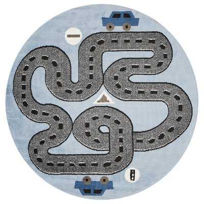 Gulf Racing Roadways Gray/Blue Area Rug - Wayfair