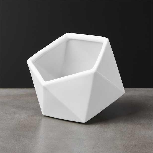 Clarity Large White Porcelain Bowl - CB2
