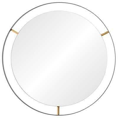 """Wolfenbarger Industrial Accent Mirror - 30"""" x 30"""" - AllModern"""