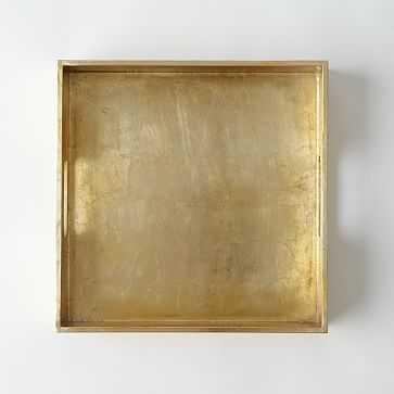 "Wood Tray, 12""X12"", Gold - West Elm"