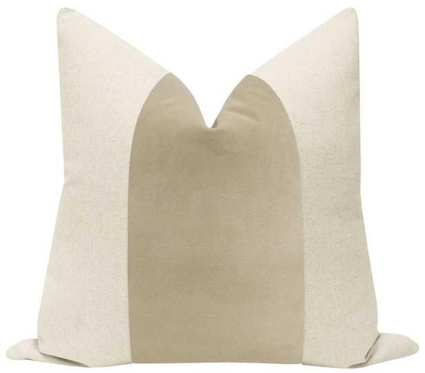 "PANEL :: Signature Velvet // Stone - 22"" X 22"" - Little Design Company"