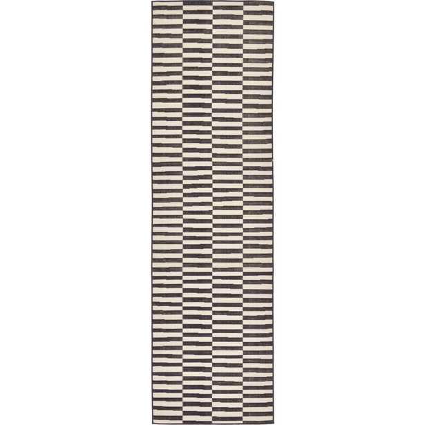 Tribeca Black 2' 9 x 9' 10 Runner Rug - Home Depot