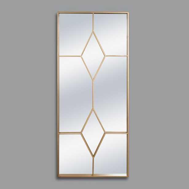 Gold Diamond Frame Leaner Mirror - Home Depot
