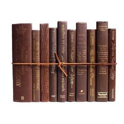Authentic Decorative Books - By Color Modern Coffee ColorPak (1 Linear Foot, 10-12 Books) - Wayfair