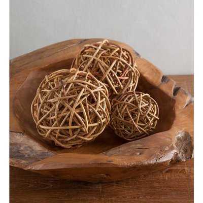 Bloomingdale Rattan Ball Décor 4 Piece Vase Filler Set - Birch Lane
