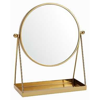 Silhouette Vanity Mirror, Gold - Pottery Barn Teen