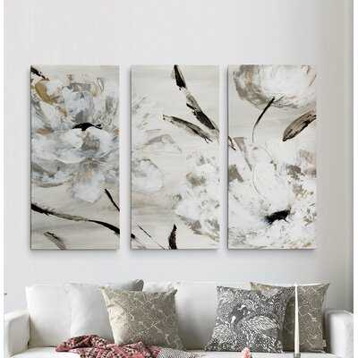 A Premium 'Misty Morning Blooms' Painting Multi-Piece Image on Canvas - Wayfair