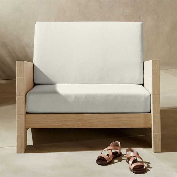 Lunes White Outdoor Lounge Chair - CB2