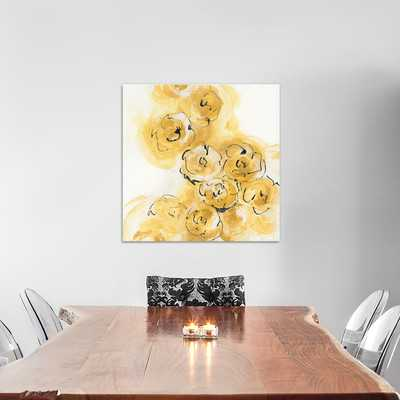 Yellow Roses Anew II Painting Print on Wrapped Canvas - Wayfair