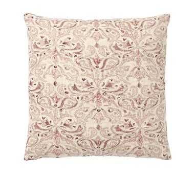 """Reilley Embroidered Pillow, 22"""", Mauve - Pottery Barn"""