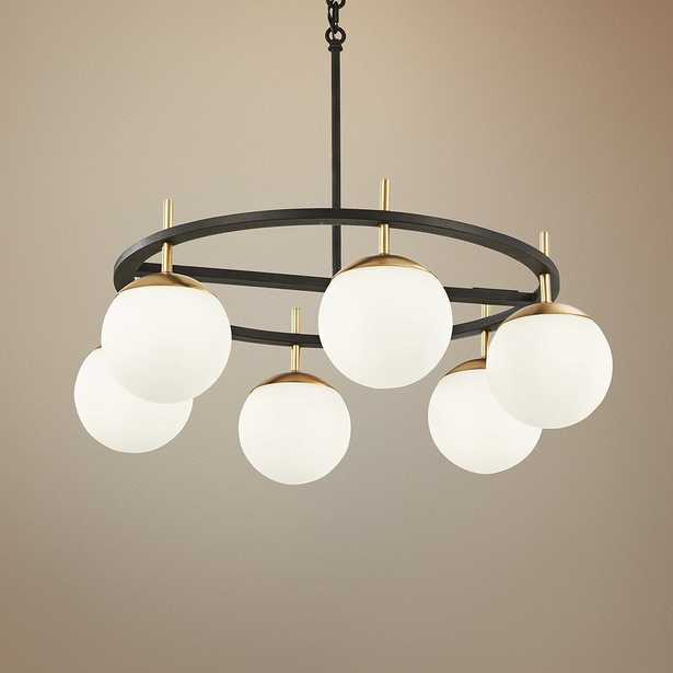 """Alluria 27""""W Weathered Black and Autumn Gold 6-Light Pendant - Style # 58D77 - Lamps Plus"""