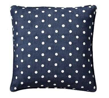 "Caci Dot Pillow, Blue Multi, 20"" - Pottery Barn"