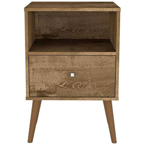 """Liberty 17 3/4"""" Wide Rustic Brown 1-Drawer Wood Nightstand - Style # 69T40 - Lamps Plus"""