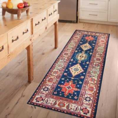 Noor Sapphire Indoor/Outdoor Area Rug - Wayfair