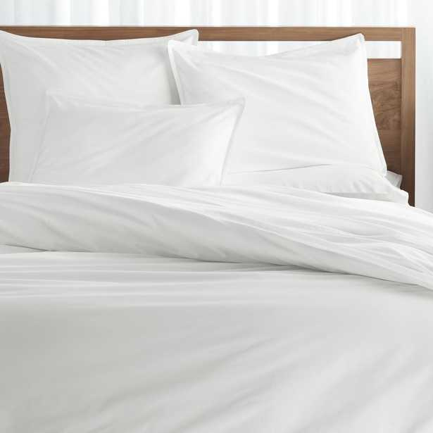Haven King White Percale Duvet Cover - Crate and Barrel