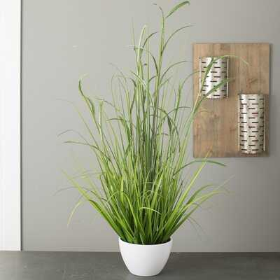 Faux Bamboo and Foliage Grass in Pot - Wayfair