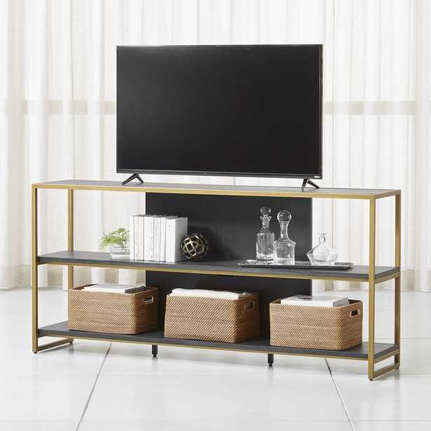 """Oxford 80"""" Black Wood Media Console - Crate and Barrel"""