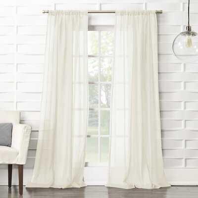 Marden Solid Sheer Rod Pocket Single Curtain Panel - AllModern
