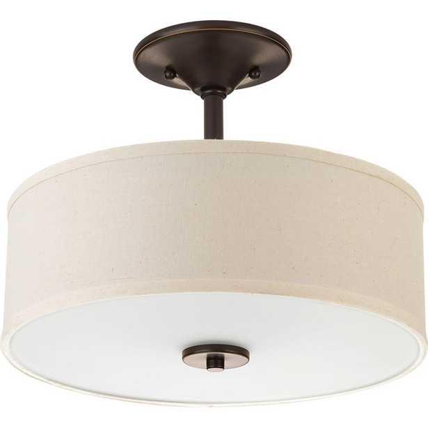 Progress Lighting Inspire 2-Light Antique Bronze Semi-Flushmount - Home Depot