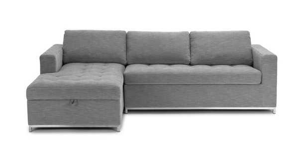 Soma Dawn Gray Left Sofa Bed - Article