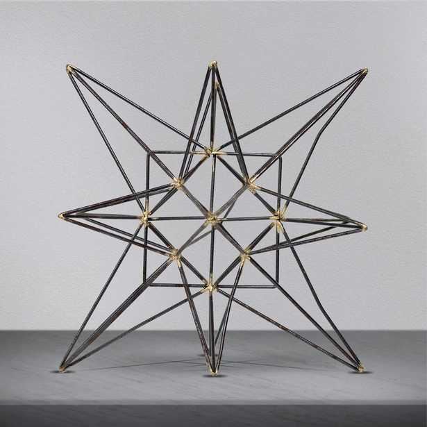 Metal Star Small Figurine, Grey - Home Depot
