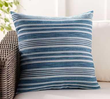 "Melilla Indoor/Outdoor Pillow, 20"", Blue Multi - Pottery Barn"