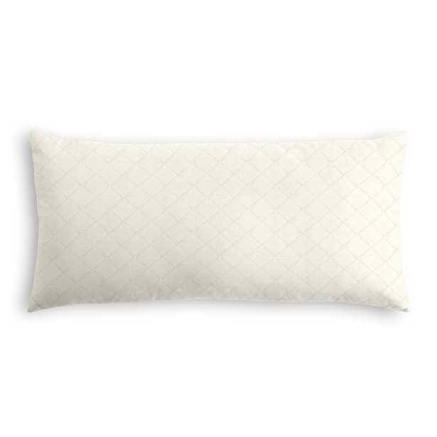 SIMPLE LUMBAR PILLOW    in pintucked in - ivory - w/down insert - Loom Decor