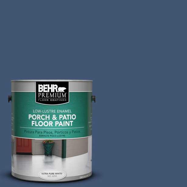 BEHR Premium 1 gal. #hdc-CL-26 Champlain Blue Low-Lustre Porch and Patio Floor Paint - Home Depot