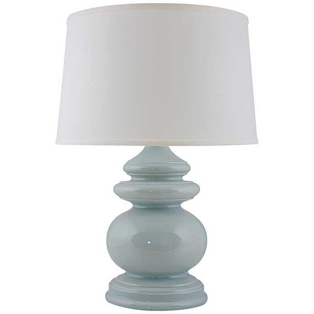 RiverCeramic Cottage Gloss Mist Blue Table Lamp - Lamps Plus