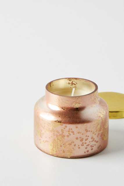 Mini Capri Blue Rose Gold Jar Candle - Anthropologie