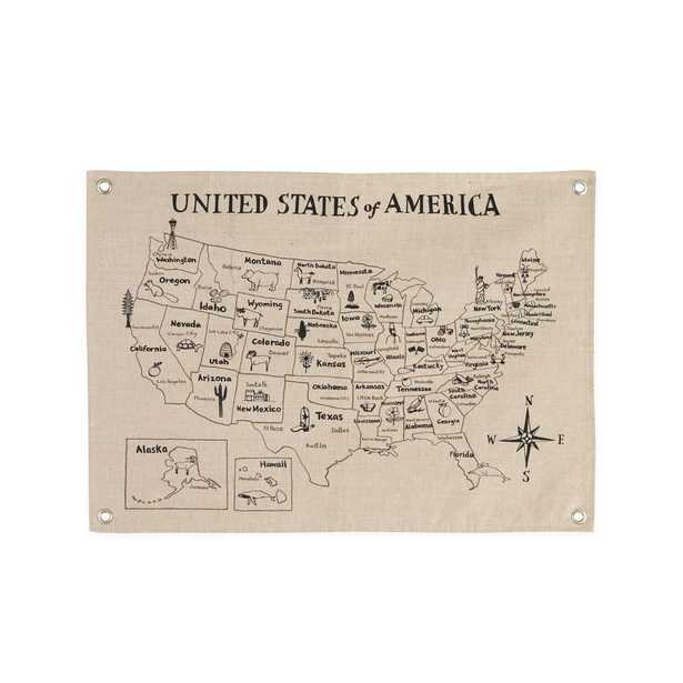 Canvas United States Map - Crate and Barrel