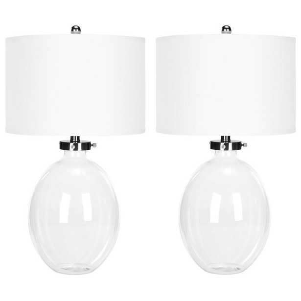 Safavieh Neville 26 in. Clear Glass Table Lamp (Set of 2) - Home Depot