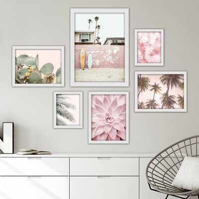 Southwest Beach 6 Piece Framed Graphic Art Print Set - Wayfair