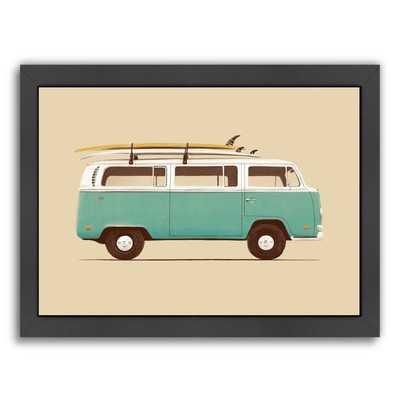 Blue Van Framed Graphic Art - Wayfair