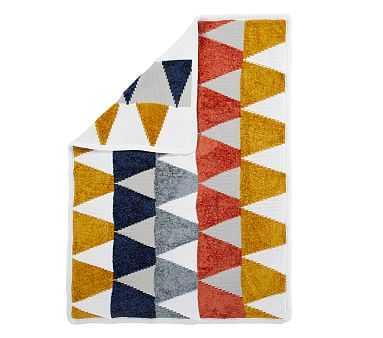 Chenille Triangles Baby Blanket, Stroller Blanket, Multi - Pottery Barn Kids