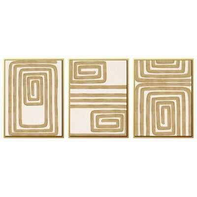 'Golden Rope' Graphic Art Multi-Piece Image on Canvas - AllModern