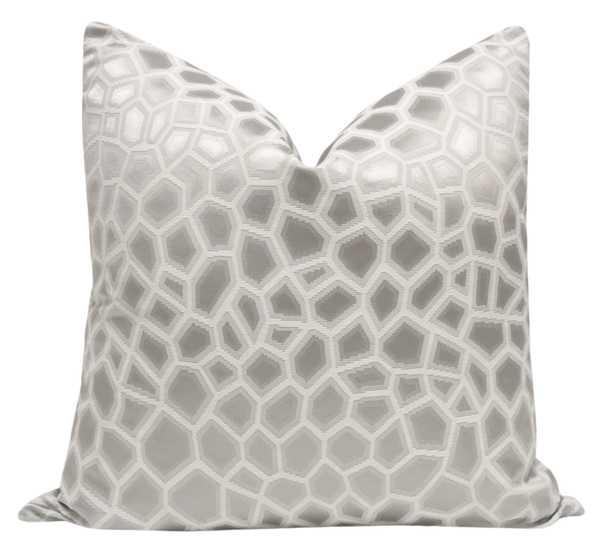 """Faux Silk Safari // Silver - 18"""" X 18"""" - Little Design Company"""