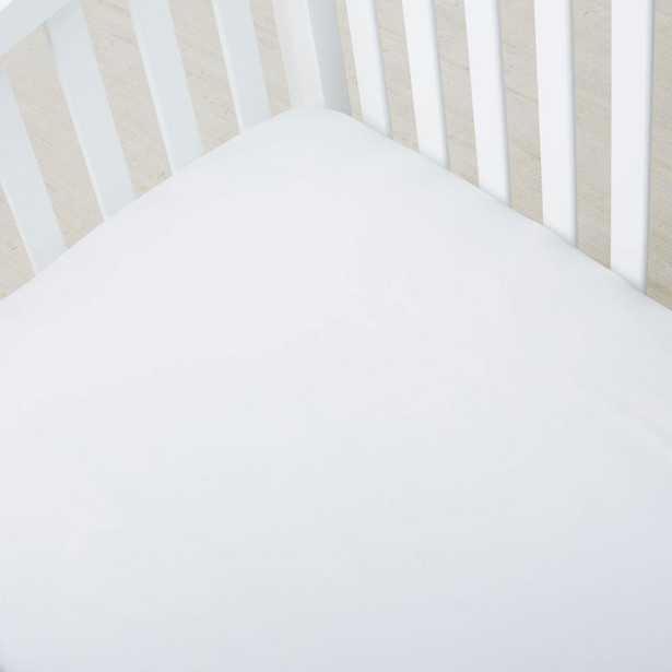 300-Thread Count White Organic Sateen Crib Sheet - Home Depot