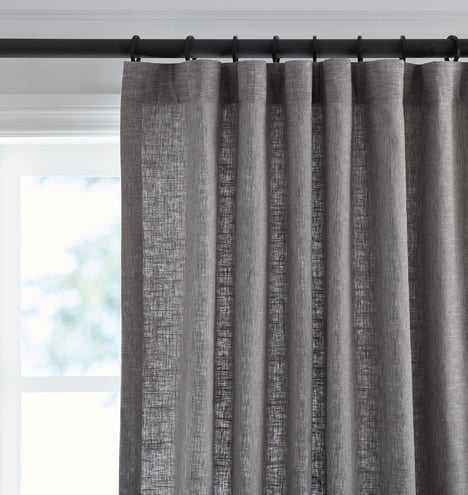 Linen/Cotton Drapery Panel - Gray - Rejuvenation