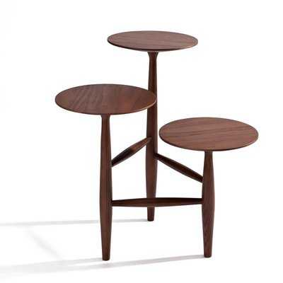 Aries Walnut End Table - Wayfair
